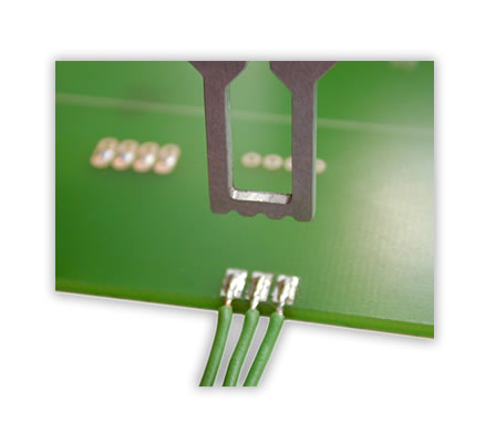Soldering of single stranded wires on a PCB