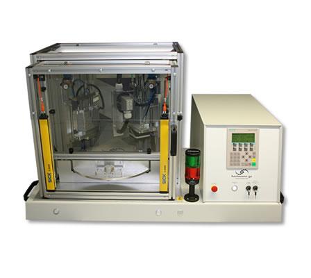 Laser-Heißverstemmsystem mit dreifach-Drehteller
