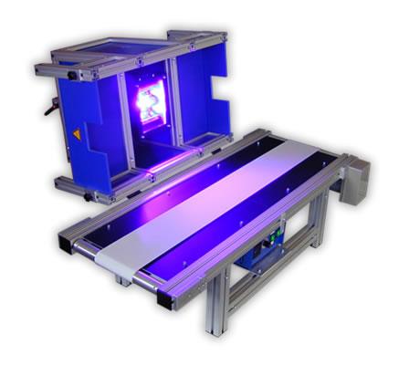 450W Bandsystem mit Transportband aus UV-beständigem Silikongewebe